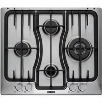Zanussi ZGX66424XA 59cm Stainless Steel Four Burner Gas Hob