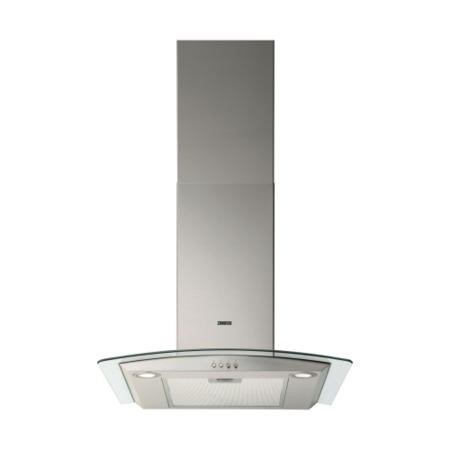 Zanussi ZHC6234X Curved Glass Canopy 60cm Chimney Cooker Hood Stainless Steel