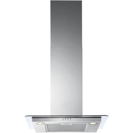 Zanussi ZHC62642XA 60cm Chimney Cooker Hood Stainless Steel With Flat Glass Canopy