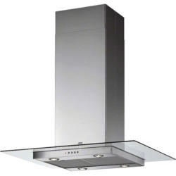 Zanussi ZHS92551XA 90cm Chimney Cooker Hood Stainless Steel With Flat Glass Canopy