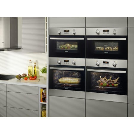 Zanussi ZKC44500XA Built-in Combination Microwave Oven Stainless Steel