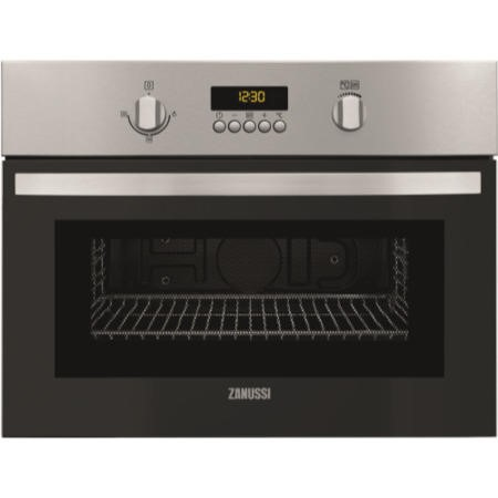 Zanussi ZKG44500XA Compact Height Built-in Microwave With Grill Stainless Steel