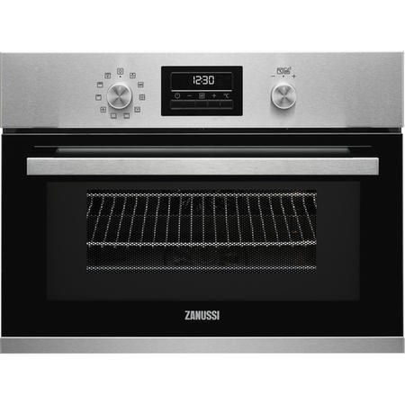 Zanussi ZKK47901XK Compact Multifunction Oven With Microwave  Antifingerprint Stainless Steel