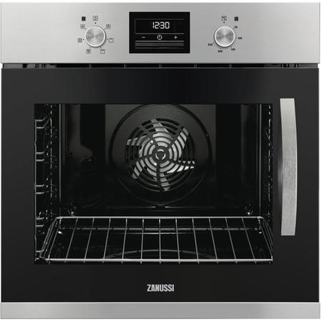 Zanussi ZOA35675XK Side-opening Single Fan Oven With Programmable Timer - Left Hand Hinge - Stainless Steel