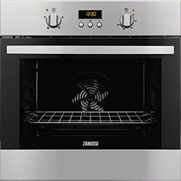 Zanussi ZOB35301XK Electric Built-in Single Oven In Stainless Steel With Antifingerprint Coating