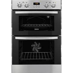 Zanussi ZOD35511DX Electric Built-in Fan Double Oven Stainless Steel