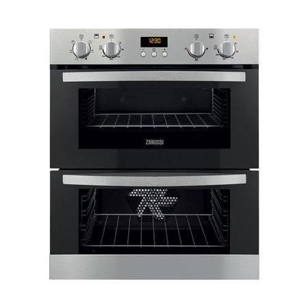 Zanussi ZOF35511XK Stainless Steel Electric Built-under Multifunction Double Oven