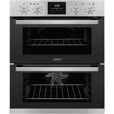 Zanussi ZOF35661XK Multifunction Electric Built Under Double Oven - Stainless Steel