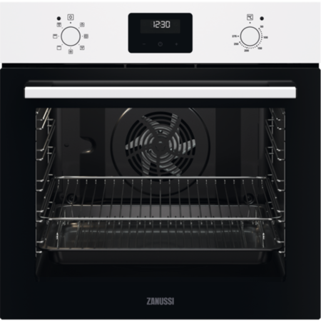 ZANUSSI ZOHNX3W1 Series 20 FanCook Electric Single Oven - White