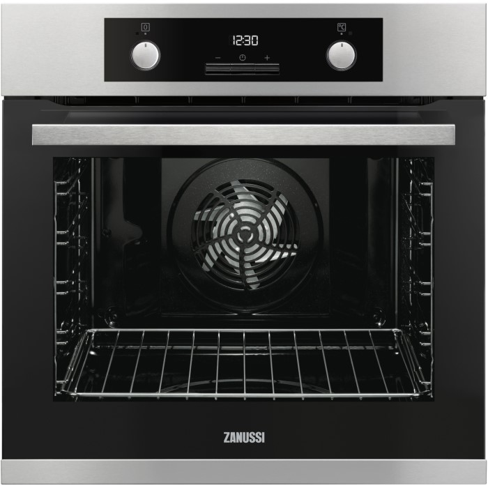 Zanussi Zop37982xc Multifunction Single Oven With Pyrolytic Cleaning