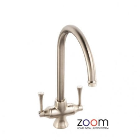 Zoom ZP1033 Gosford Twin Lever Monobloc Brushed Nickel Tap