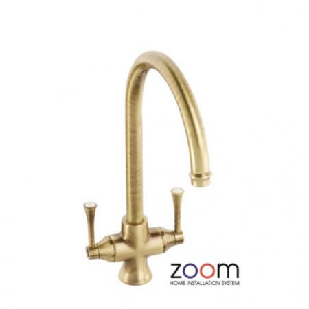 Zoom ZP1034 Gosford Twin Lever Monobloc Antique Bronze Tap