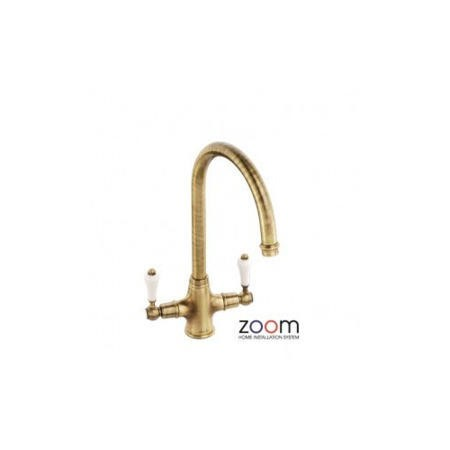 Zoom ZP1037 Ludlow Twin Lever Monobloc Antique Bronze Tap