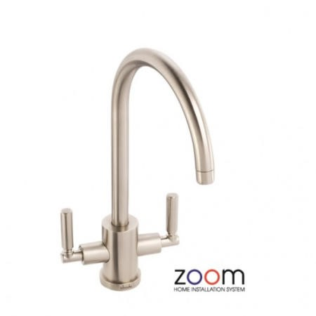 Zoom ZP1045 Atlas Twin Lever Monobloc Brushed Nickel Tap