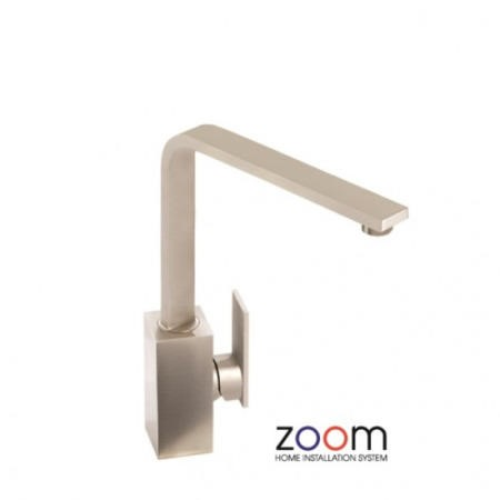 Zoom ZP1064 New Media Single Lever Brushed Nickel Mixer Tap