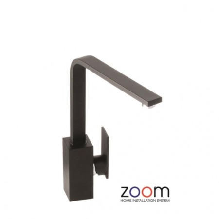 Zoom ZP1065 New Media Single Lever Granite Black Mixer Tap