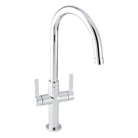 Zoom ZP1067 Linear Style Twin Lever Monobloc Chrome Tap