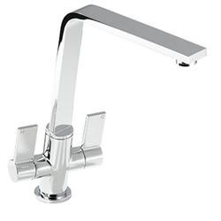 Zoom ZP1069 Linear Flair Twin Lever Monobloc Chrome Tap