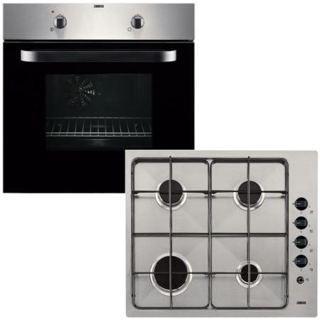 zanussi zpgf4030x electric fan oven and gas hob pack. Black Bedroom Furniture Sets. Home Design Ideas