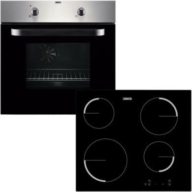 ZPVF4130X Zanussi ZPVF4130X Electric Fan Oven And Ceramic Hob Pack Stainless Steel