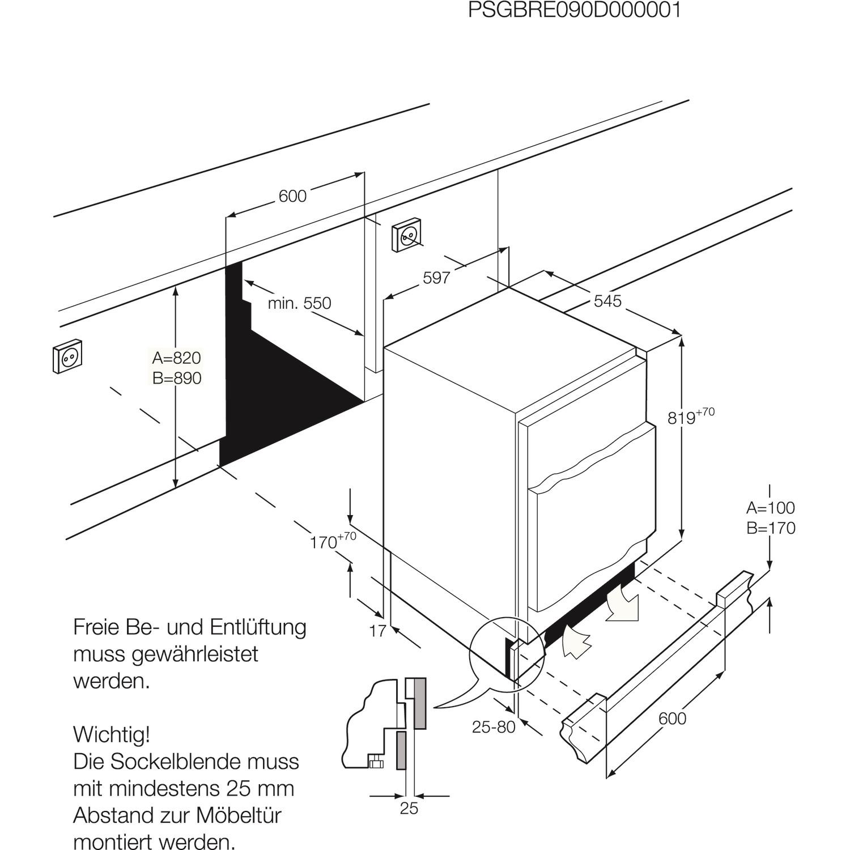 Zanussi Zqf11431dv Built Under Freezer