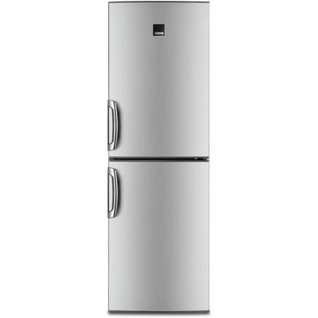 Zanussi ZRB35426XA 185x60cm Freestanding Fridge Freezer Grey With Anti-fingerprint Stainless Steel Doors