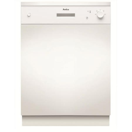Amica ZZV634W 12 Place Semi-integrated Dishwasher - White Control Panel