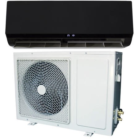 18000 BTU Black Hitachi Powered Smart Wall Mounted Split Inverter Air Conditioner with Heat Pump 5 m