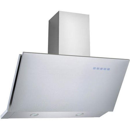 electriQ Sloping Stainless 90cm Cooker Hood Includes Optional Chimney  - 5 Year Warranty