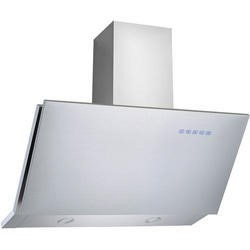 GRADE A1 - electriQ Sloping Stainless 90cm Cooker Hood Includes Optional Chimney