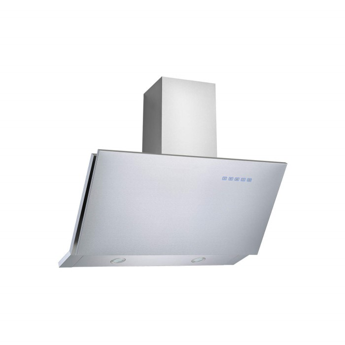 electriQ Angled Stainless 90cm Cooker Hood Includes Optional Chimney ...