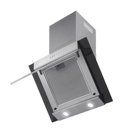 electriQ 60cm Angled Glass and Steel Designer Cooker Hood  -  5 Year Warranty