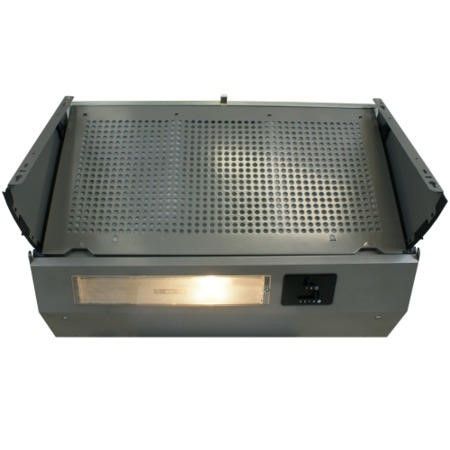 electriQ 60cm Fully Integrated Built in Cooker Hood Grey - 5 Year Warranty
