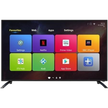 "GRADE A2 - electriQ 49"" 4K Ultra HD LED Android Smart TV with Freeview HD"