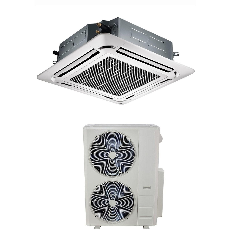 48000 BTU Super Slim Ceiling Cassette Air Conditioner 14kW With Heat Pump