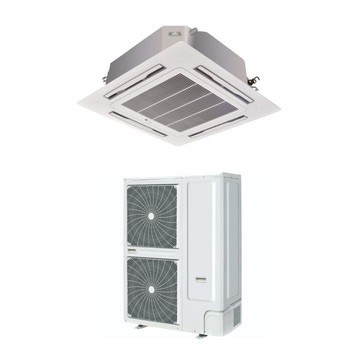 60000 Btu Super Slim Ceiling Cassette Air Conditioner 16kw With Heat Pump Eiq Ssrfc60k
