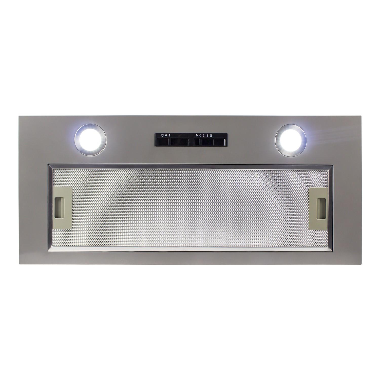 ElectriQ 70cm Canopy Cooker Hood Kitchen Extractor Fan In Silver   5 Year  Warranty