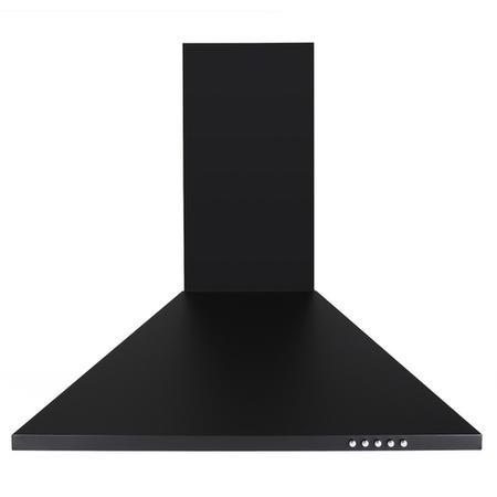 electriQ 60cm Traditional Black Chimney Cooker Hood -  5 Years Warranty