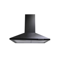 ElectriQ 90cm Black Chimney Hood - 5 Years warranty 5 year parts and 2 year labour