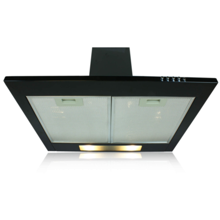ElectriQ 90cm Black Chimney Cooker Hood Extractor - 5 Years warranty 5 year parts and 2 year labour