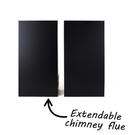 electriQ 90cm Black Chimney Cooker Hood Extractor - 5 Year Warranty