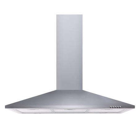 electriQ 90cm Traditional Chimney Cooker Hood in Stainless Steel  - Now with 5 Years Warranty