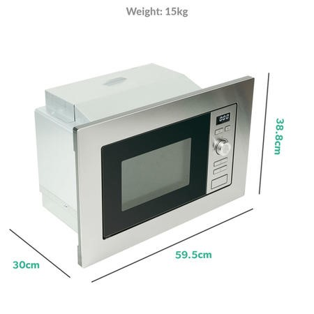 electriQ Built-in 17L Standard Microwave in Stainless Steel