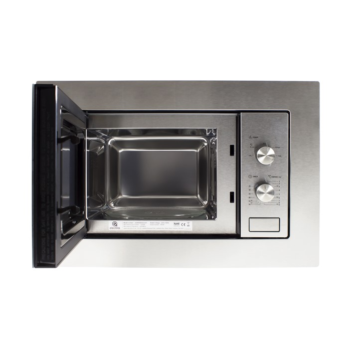 electriQ 20L Built in Standard Solo Microwave in Stainless Steel ...