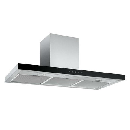 electriQ 100cm Touch Control Wall Mounted Chimney Cooker Hood - Black Glass Front- 5 Year Warranty