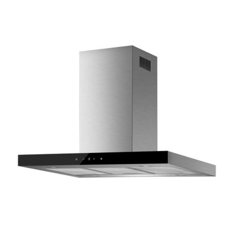 electriQ 90cm Slimline Box Touch Control Island Hood Stainless Steel - 5 Year Warranty