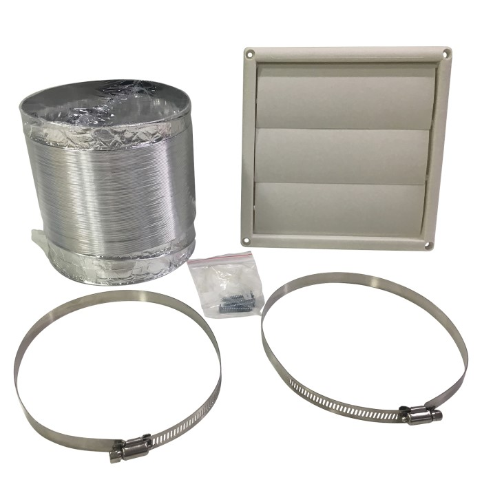 Universal Kitchen Cooker Hood Extractor Fan Vent Ducting Kit 3m Flexible -  for 150mm Air Outlet