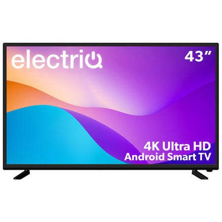 electriQ 43 Inch 4K Ultra HD HDR Android Smart LED TV with Freeview HD