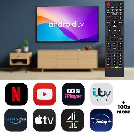 "electriQ 43"" 4K Ultra HD HDR LED Android Smart TV with Freeview HD"