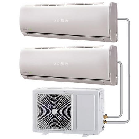 Multi-split 18000 BTU Smart Inverter Air Conditioner with single outdoor unit and two 9000 BTU indoor units